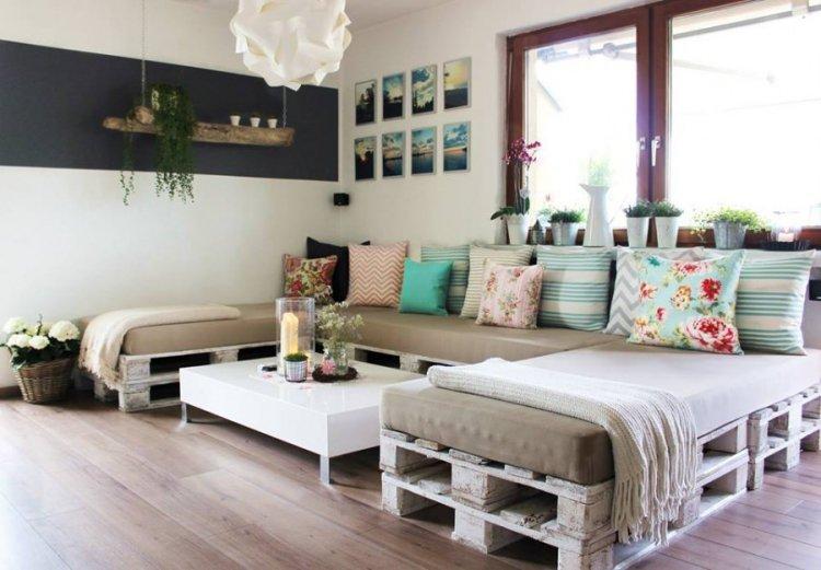 meuble palettes bois canap