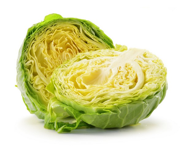 Fresh cabbage isolated on white background