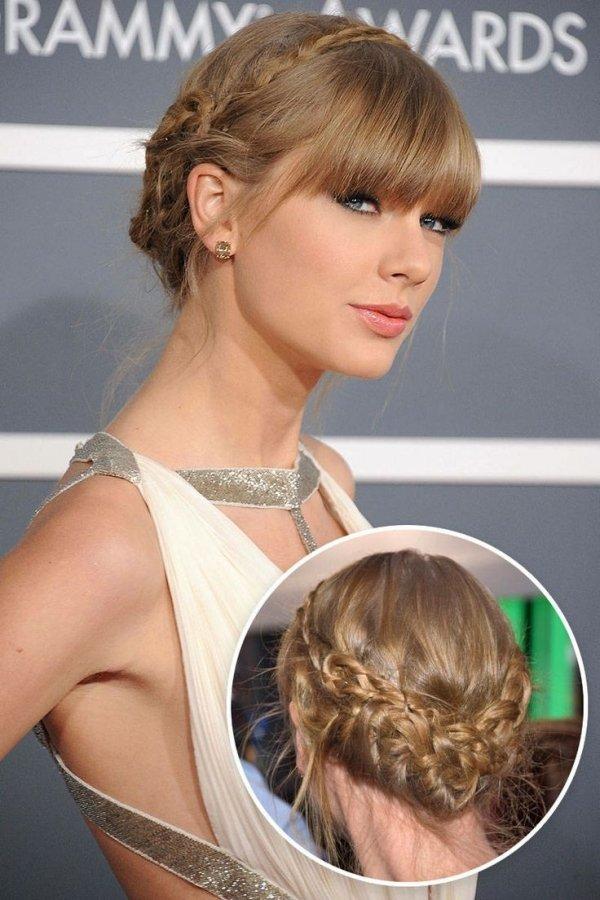 coiffure-tresse-diademe-chignon-Taylor-Swift